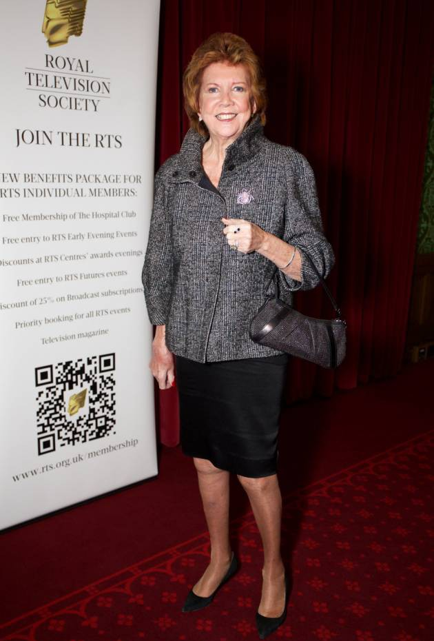 Mandatory Credit: Photo by Paul Hampartsoumian/REX (4277680r)  Cilla Black OBE  Cilla Black receives the first RTS Legend award honouring 50 years in TV at The House of Lords, London, Britain - 05 Dec 2014