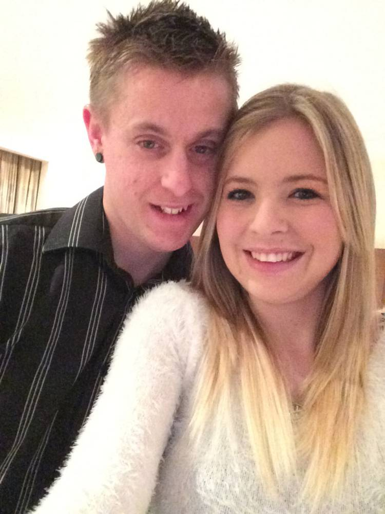 FERRARI PRESS AGENCY - 3/12/14. Collect pic shows Hannah Sanders and her fiance Lee Palmer on together in 2013. The couple were killed in a car crash in Oxted, Surrey, on April 25th, 2014, just half an hour after discovering Hannah was pregnant and on the day they were setting up home together in their new flat. PIC: FERRARI PRESS AGENCY