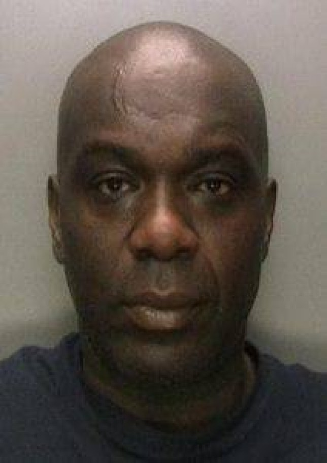 Gerald Malcolm. A horrific rapist has been jailed for eight years after passers-by were forced to pour COLD WATER over him to stop his broad daylight attack. See NTI story NTIRAPE Shocked motorists thought sick Gerald Malcolm, 48, was having a roadside tryst when they spotted him having sex with a drunken woman on a grass verge at 4.10pm on April 25 last year. It was only when one passer by threw a bowl of water over the couple they realised his helpless victim was unable to walk or talk. On Thursday (11/12) jobless Malcolm, originally from Jamaica, was caged for eight years at Wolverhampton Crown Court after admitting the rape.