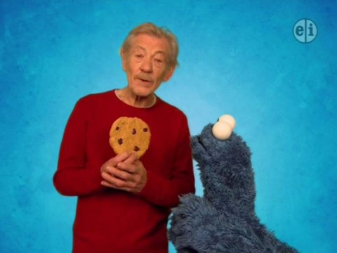 Ian McKellen just won Sesame Street after his epic appearance with Cookie Monster