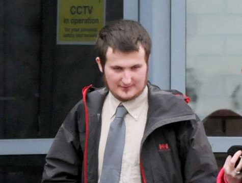 "Picture shows David Helens, leaving South Tyneside Magistrates Court. See SWNS copy SWXBOX : A man who was playing the computer game Grand Theft Auto got 'confused' - and rang 999 to report a SHOOTING, a court heard.  Dopey David Helens, 25, made the frantic call after a long session of the popular guns and gangster franchise. He told a call handler that pal 'Max' had suffered a gunshot wound to the chest and was ""slipping in and out of consciousness"".   Helens said he was bleeding badly before telling her he thought he was dead."