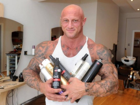 Meet the world's toughest hairdresser: A Mr Universe competitor with a 58 inch chest
