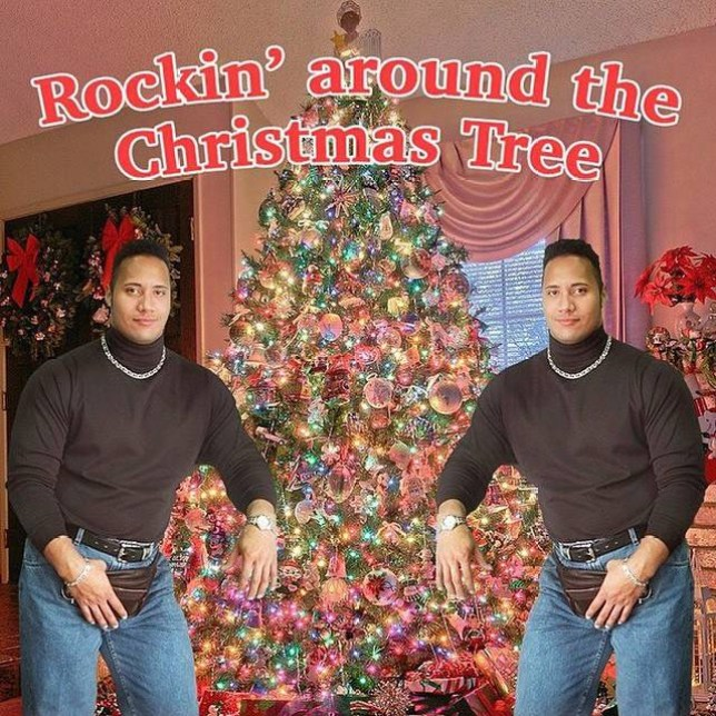 The Christmas Card.Dwayne The Rock Johnson May Have Just Won The Festive