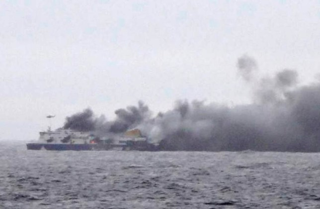 Italian ferry fire: Rescue operations under way for hundreds