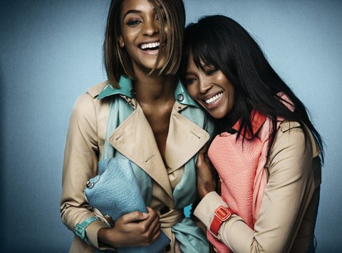 Naomi Campbell is paired with protege Jourdan Dunn for Burberry's spring/summer 2015 campaign