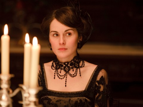 Downton Abbey's Michelle Dockery is unrecognisable as she heads back to work