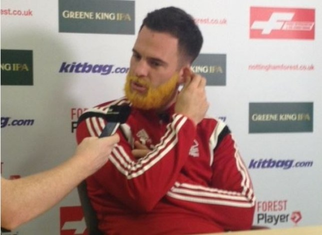 Danny Fox is rocking the ginger beard look (Picture: Twitter)