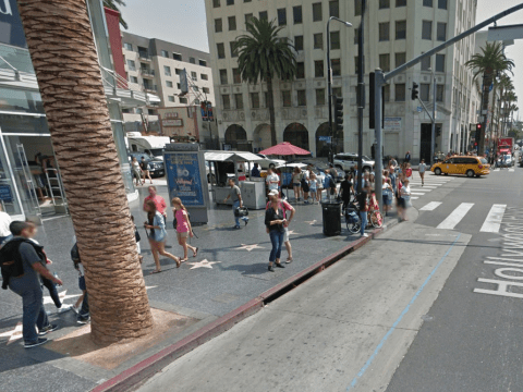 Man 'armed with pen knife' shot dead on Hollywood walk of fame by police
