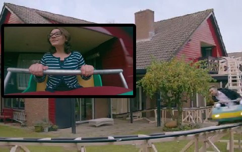 House buyers view property on a rollercoaster