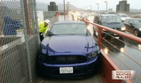 Never drive drunk across the Golden Gate Bridge, especially not on the pavement