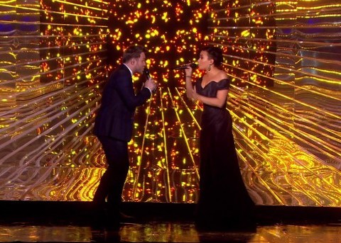 Demi Lovato takes swipe at Simon Cowell as she performs with Olly Murs on X Factor final