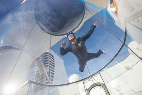 Over the sea to skydive: Anthem of the Seas will feature a skydiving simulator (Picture: Simon Brooke-Webb/Royal Caribbean)