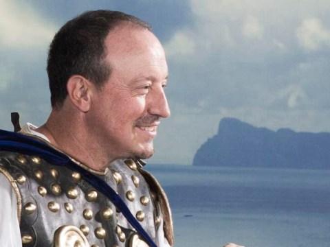 Rafa Benitez dresses as a gladiator and Gonzalo Higuain gets tied up in Napoli's truly bizarre 2015 calendar