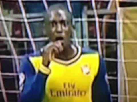 Yaya Sanogo's reaction to Aaron Ramsey's brilliant Arsenal goal v Galatasaray is priceless