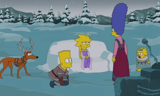 The Simpsons Christmas Couch Gag