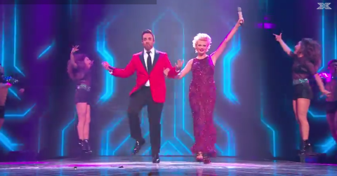 Stevi Ritchie and Chloe Jasmine sang a love song to each other on the X Factor final