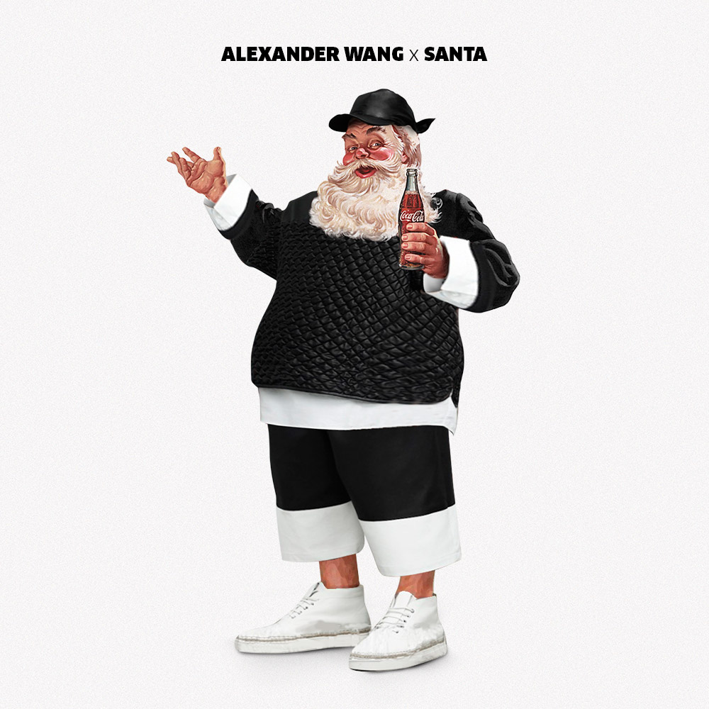 Santa wears Alexander Wang, Saint Laurent and Kenzo in high fashion makeover