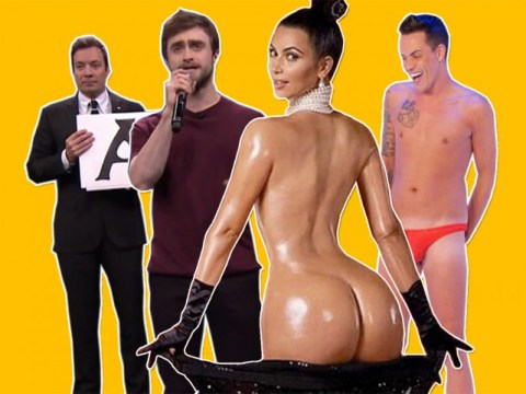 From Kim Kardashian's naked shoot to Orlando Bloom's heroic punch: The 8 best celeb stories of 2014