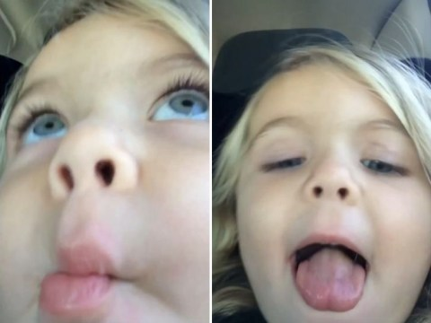 Three-year-old attempts to take the perfect selfie – nails it on the 677th take
