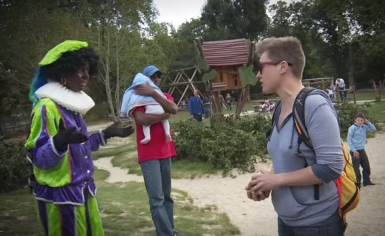 One woman became understandably angry at their appearance (Picture: Youtube/vpro.nl)
