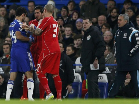 Chelsea's Diego Costa escapes red card for stamp on Liverpool's Emre Can, then has penalty appeal turned down