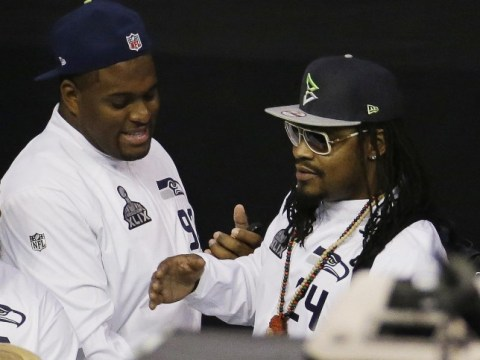 'I'm just here so I won't get fined': Marshawn Lynch gives 29 identical answers to questions at Super Bowl 2015 media day