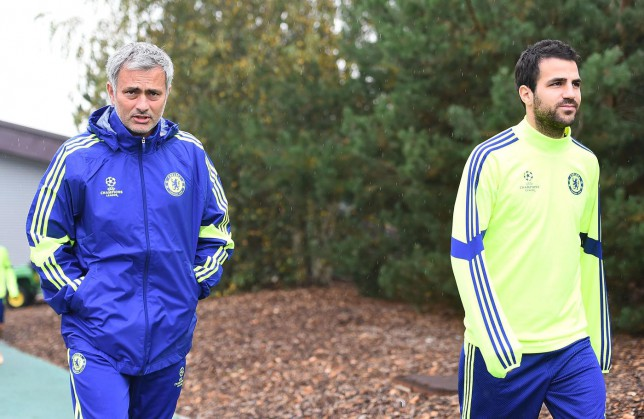 Cesc Fabregas admits he didn't envision working under Jose Mourinho