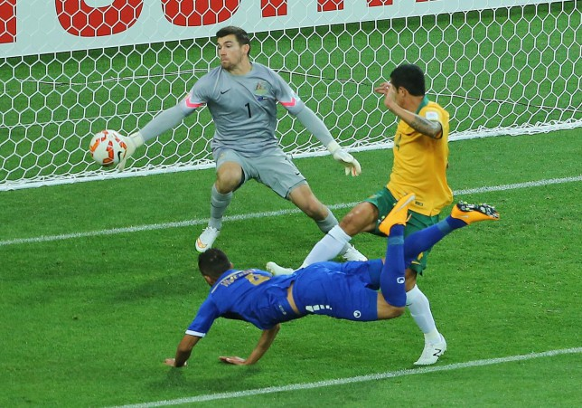 Australia goalkeeper Mathew Ryan has been linked with a move to Liverpool