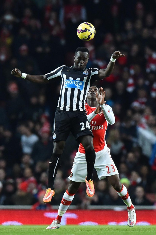 Newcastle's Cheick Tiote looks unlikely to move to Arsenal this month