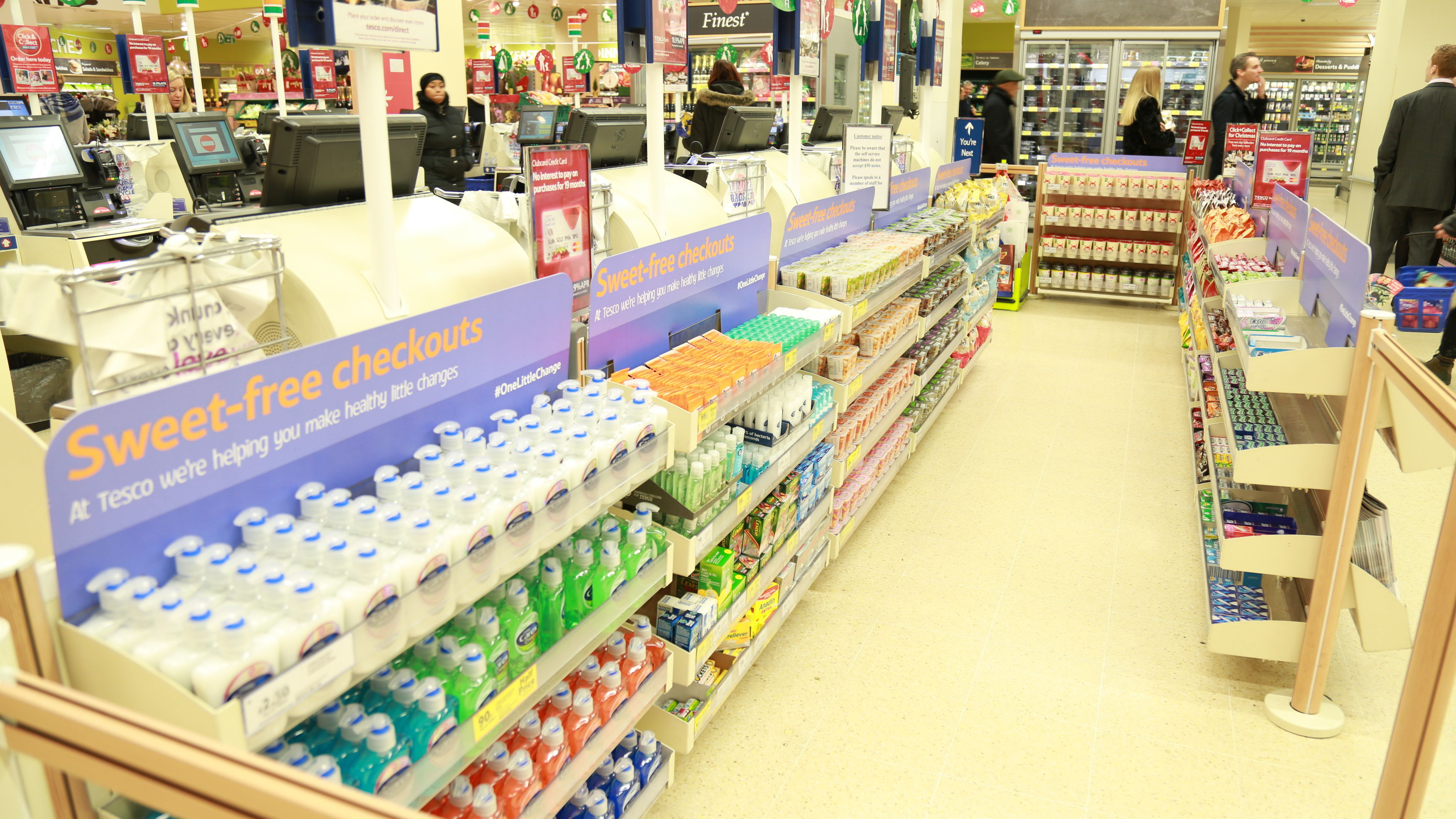Are sweet-free checkouts a sign of the future? Tesco thinks so