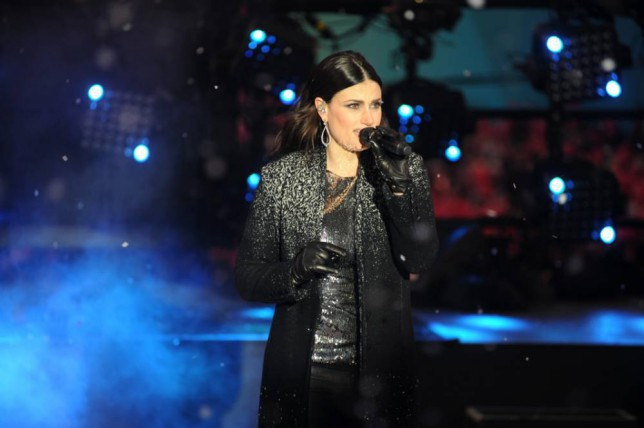 Idina Menzel performing on New Year's Eve in the Times Square section of New York, NY on December 31, 2014. (Photo/Christopher Sadowski) <P> Pictured: Idina Menzel <B>Ref: SPL919821  311214  </B><BR /> Picture by: Christopher Sadowski/Splash News<BR /> </P> <P><B>Splash News and Pictures</B><BR /> Los Angeles: 310-821-2666<BR /> New York: 212-619-2666<BR /> London: 870-934-2666<BR /> photodesk@splashnews.com<BR /> </P>
