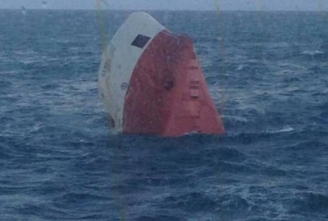 A major search operation is underway off the coast of Scotland after an overturned vessel was spotted partially-submerged in the sea. Eight people are reported to have been on board the Cemfjord, a cargo ship registered in Cyprus that was sailing to Runcorn, Cheshire. Footage from the scene shows the 83-metre ship, which was carrying cement, now drifting in freezing waters 15 miles north-east of Wick. It was last seen yesterday afternoon.