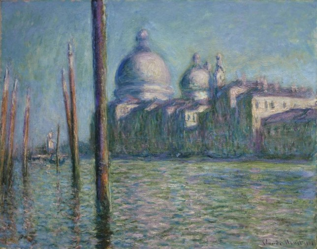 Undated handout photo issued by Sotheby's of Le Grand Canal, 1908, an oil on canvas painting by Claude Monet which is to be sold next month and could set a new record price with a price of up to £30 million. PRESS ASSOCIATION Photo. Issue date: Thursday January 8, 2015. The French Impressionist's work Le Grand Canal, has previously been on show at the National Gallery but is to be sold from a private collection at Sotheby's in London on February 3. See PA story SALE Monet. Photo credit should read: Sotheby's/PA Wire NOTE TO EDITORS: This handout photo may only be used in for editorial reporting purposes for the contemporaneous illustration of events, things or the people in the image or facts mentioned in the caption. Reuse of the picture may require further permission from the copyright holder.