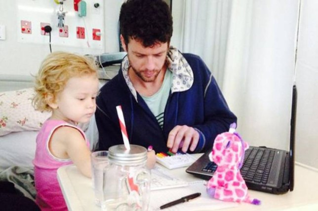 Adam-Koessler (2).jpg Adam's two-year-old daughter Rumer has late-stage cancer, but he is being kept away from his little girl after being charged with drug offences