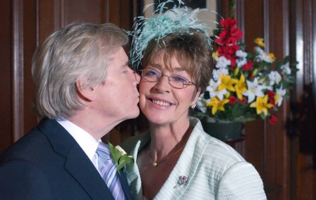 EDITORIAL USE ONLY / NO MERCHANDISING Mandatory Credit: Photo by ITV/REX (912719nv) 'Coronation Street' TV - 2005 - Ken Barlow and Deirdre Wedding, (William Roache, Anne Kirkbride). ITV ARCHIVE