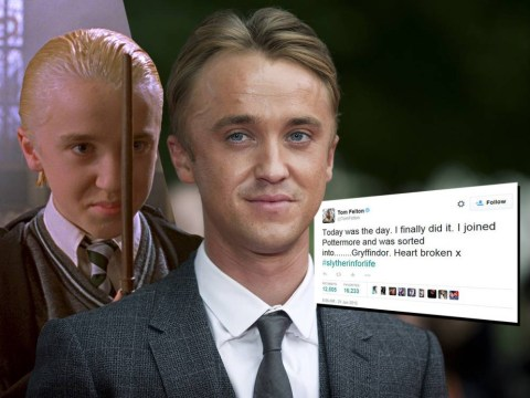 Harry Potter star Tom Felton – aka Draco Malfoy – gets an unexpected surprise after joining Pottermore