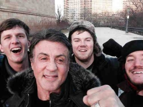 Look who these tourists found after running up the 'Rocky steps' from famous boxing film