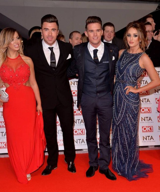 Geordie Shore - Holly Hagan, James Tindale, Gaz Beadle and Charlotte Crosby at the National Television Awards Picture: Getty)