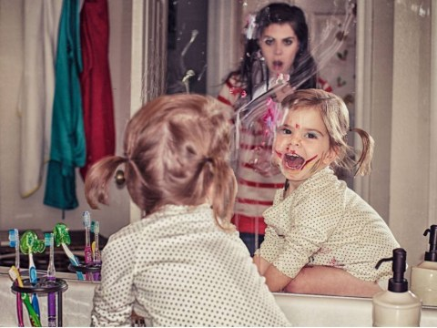 Anna Angenend's photo series Mom Life perfectly captures the chaos of life with a toddler