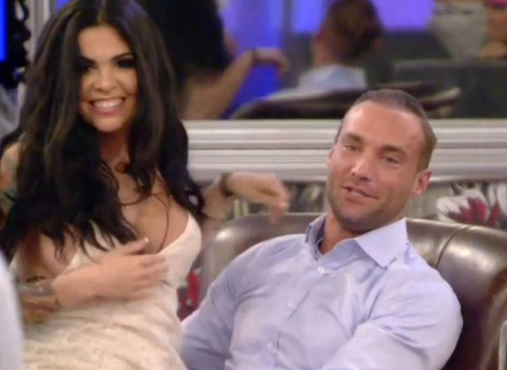 Editorial Use Only  Mandatory Credit: Photo by REX (4381111bs)  Cami Li congratulates Calum Best on surviving the eviction  'Celebrity Big Brother', Elstree Studios, Hertfordshire, Britain - 23 Jan 2015