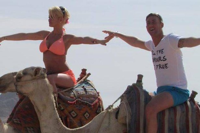 Christopher Maloney celebrates engagement with pal Danniella Westbrook in Egypt. photos sourced by pej from Twitter
