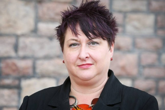 Headteacher Keziah Featherstone pictured in 2014. See SWNS story SWEXPEL; A teenager has been expelled from school after posting insults about his headteacher on FACEBOOK. Jordan Ford, 14, took to the social media site after teachers told him his dyed red hair was not acceptable for school. He then took to Facebook to criticise his head teacher Keziah Featherstone (corr) - for having her hair dyed purple. The post, which commented on her hair colour, looks and weight, was uploaded alongside her Facebook profile picture.
