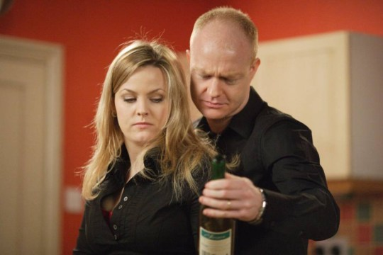 Television Programme: Eastenders BBC Picture shows: Tanya Branning [JO JOYNER] and Max Branning [JAKE WOOD] Tanya is dressed seductively, she s laid the table beautifully and the scene is set for a perfect dinner for two. She has poured the crushed pills into the fantastic bottle of white wine she has got ready. But can she pull this off. Tx: BBC One Friday 21st March 2008 WARNING: Use of this copyright image is subject to the terms of use of BBC Pictures' BBC Digital Picture Service. In particular, this image may only be published in print for editorial use during the publicity period (the weeks immediately leading up to and including the transmission week of the relevant programme or event and three review weeks following) for the purpose of publicising the programme, person or service pictured and provided the BBC and the copyright holder in the caption are credited. Any use of this image on the internet and other online communication services will require a separate prior agreement with BBC Pictures. For any other purpose whatsoever, including advertising and commercial prior written approval from the copyright holder will be required. **STRICTLY EMBARGOED FOR PUBLICATION UNTIL 11TH MARCH 2008**