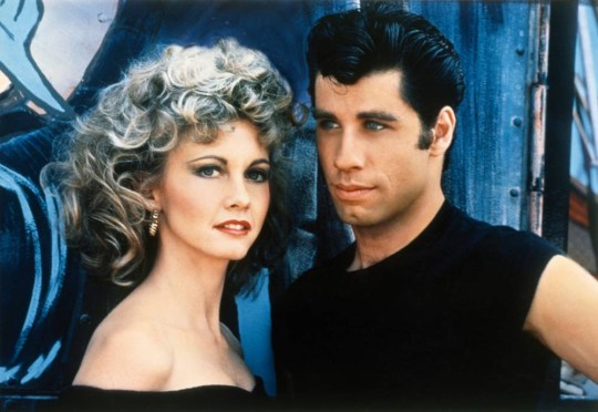 Film: Grease (1978), Starring John Travolta as Danny Zuko and Olivia Newton-John as Sandy Olsen.