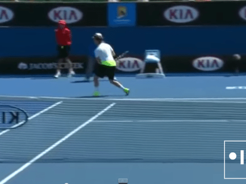 Watch as youngster is struck with fierce Feliciano Lopez serve at Australian Open