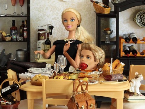 A photographer has created 'Serial Killer Barbie' and she's one scary doll