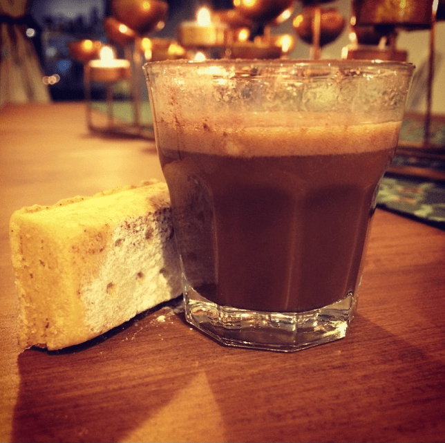 Tom Cenci's Burns Night chocolate hot toddy and shortbread