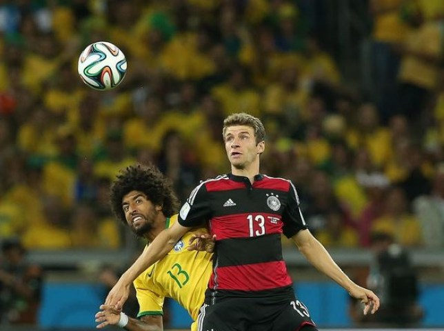 Thomas Muller apologised to Dante for making fun of Brazil's thrashing by Germany
