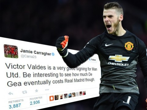 Jamie Carragher trolls Manchester United after saying David de Gea is likely to leave club for Real Madrid
