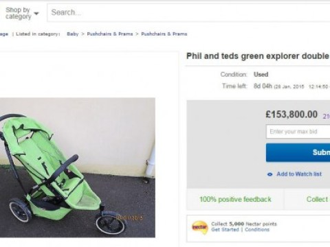 Weary dad puts kids' buggy that 'ended his happy carefree life' up for sale on eBay, bidding reaches £150,000